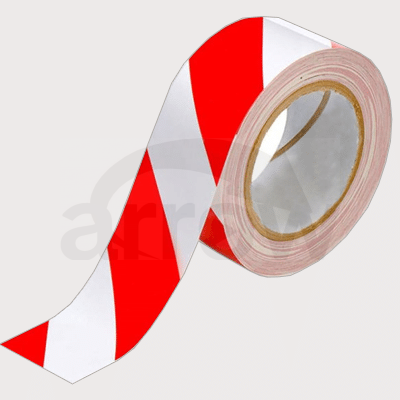 Warning Hazard Tape Red white