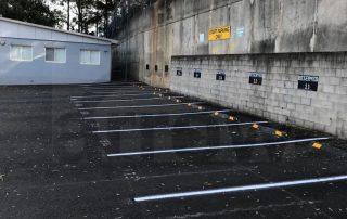 Parking tape marker