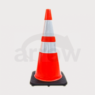Heavy Duty Black Base PVC Cone