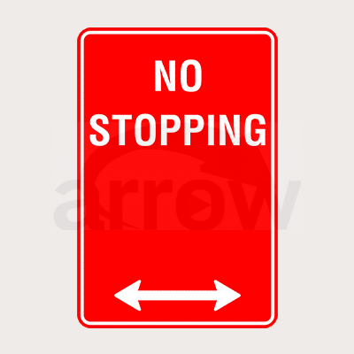 no stopping traffic sign boards