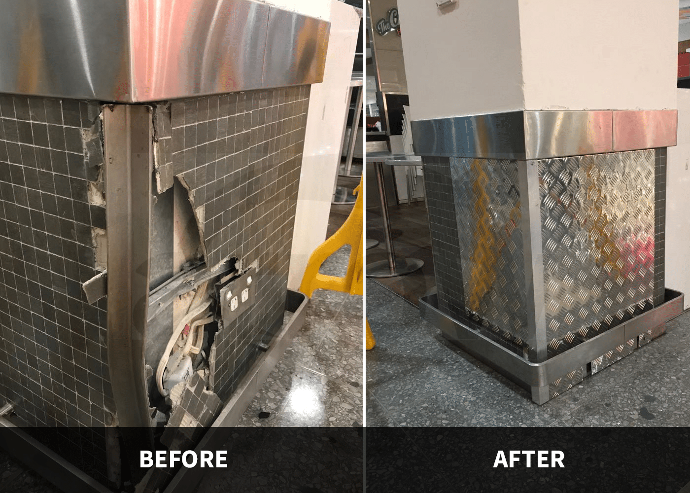 Safety Products Installation Before and After