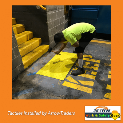 tactiles instllation tech on ramps