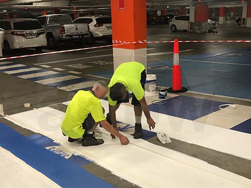 Pedestrian Crossing Painting Task