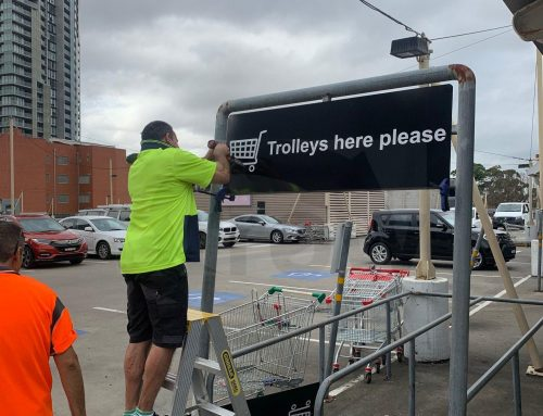 Trolley Bay Sign Installation at Westfield Parramatta